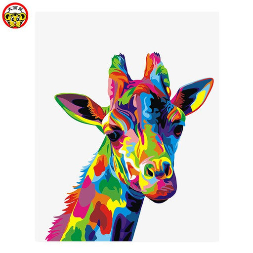 Colorful Giraffe Paint By Numbers (4780627034243)