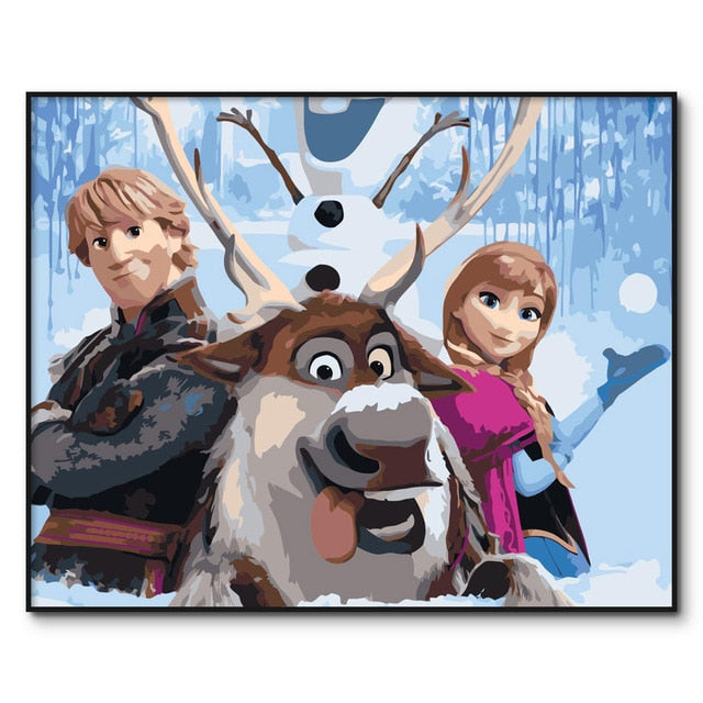 Kristoff Paint by Numbers for Kids