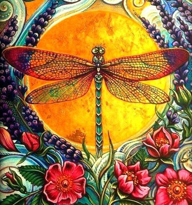 Warm Dragonfly Diamond Painting
