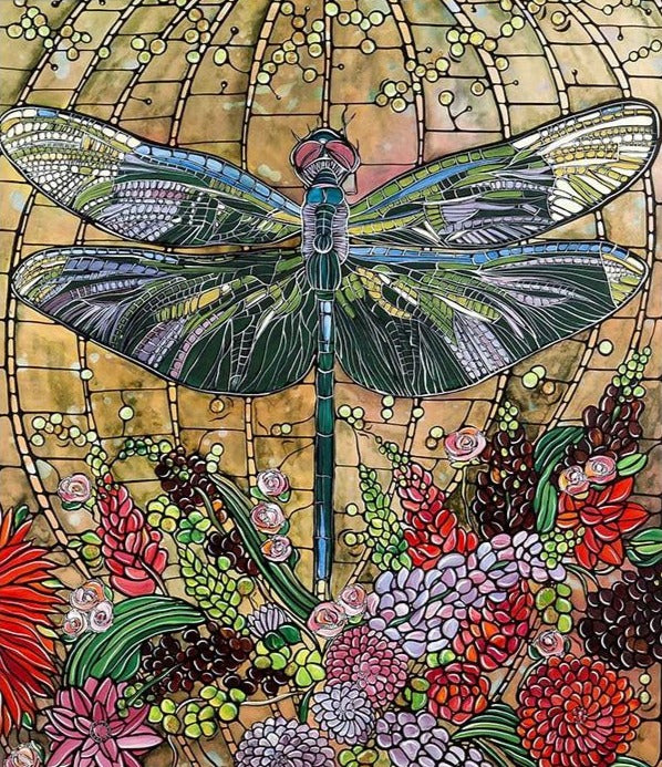 Dragonfly Canvas Diamond Painting