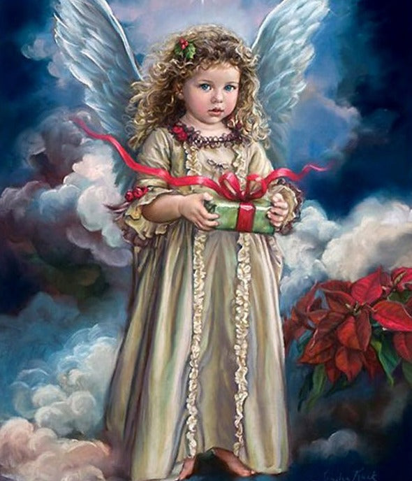 Angel Girl with Gift Diamond Painting