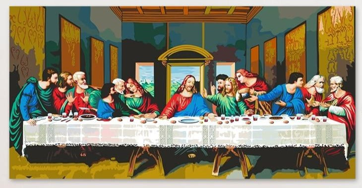 The Last Supper: Da Vinci Paint by Numbers