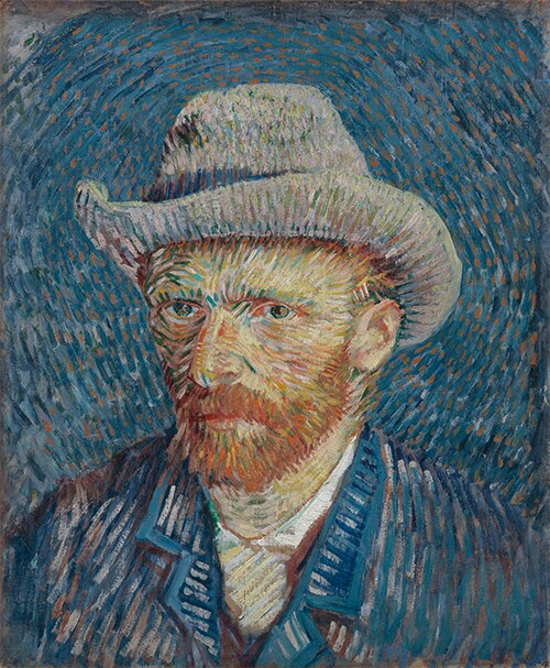 Van Gogh Paint by Numbers: Self-Portrait with Grey Felt Hat