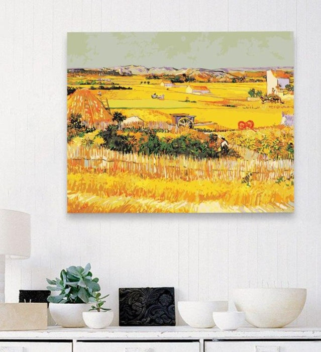 Van Gogh Paint by Numbers: Wheat Field
