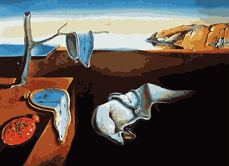 The Persistence of Memory: Salvador Dali Paint by Numbers