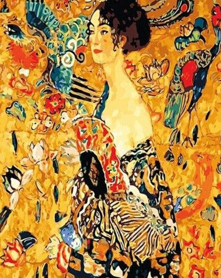 Klimt Lady with Fan Paint by Numbers