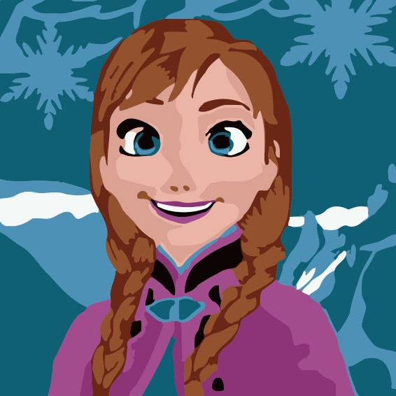 Anna Paint by Numbers for Kids