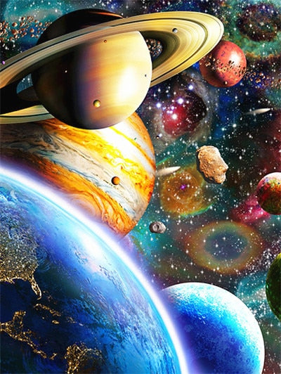 Space Paint by Numbers for Kids