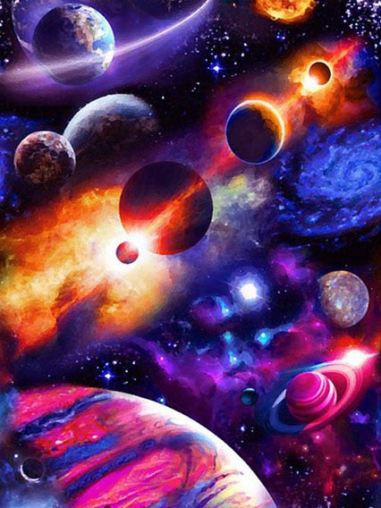Solar System Paint by Numbers for Kids