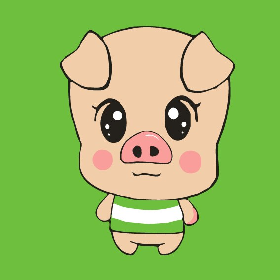 Cartoon Pig Paint by Numbers for Kids