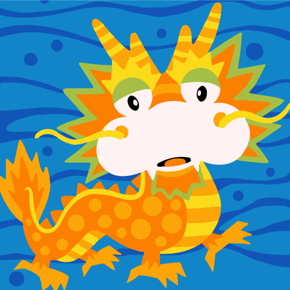 Cartoon Dragon Paint by Numbers for Kids