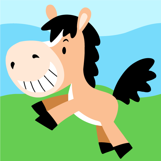 Cartoon Horse Paint by Numbers for Kids