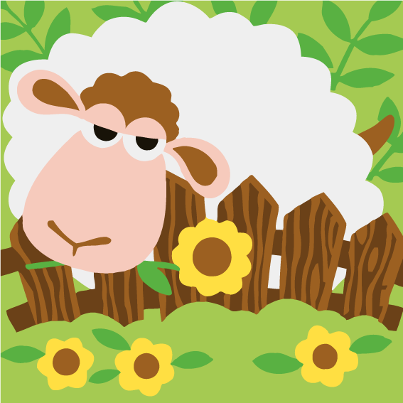 Cartoon Sheep Paint by Numbers for Kids