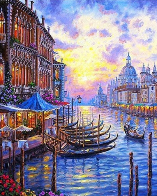 Venice Sunset Seascape Paint By Numbers (4921883820163)