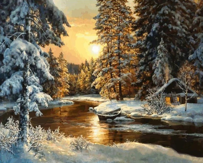 Sunset Snow Landscape (4921699827843)