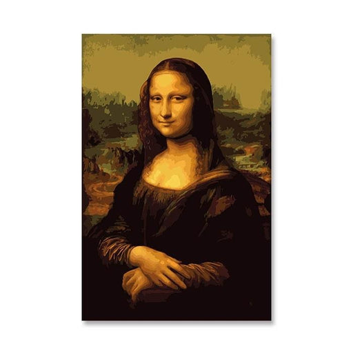 Mona Lisa Paint By Numbers, Da Vinci (4737780842627)