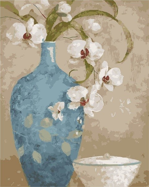 Blue Vase And Flowers Paint By Numbers (4780328812675)