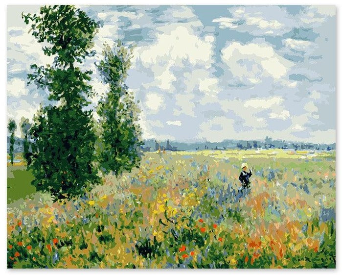 Poplars, Monet Paint by Numbers