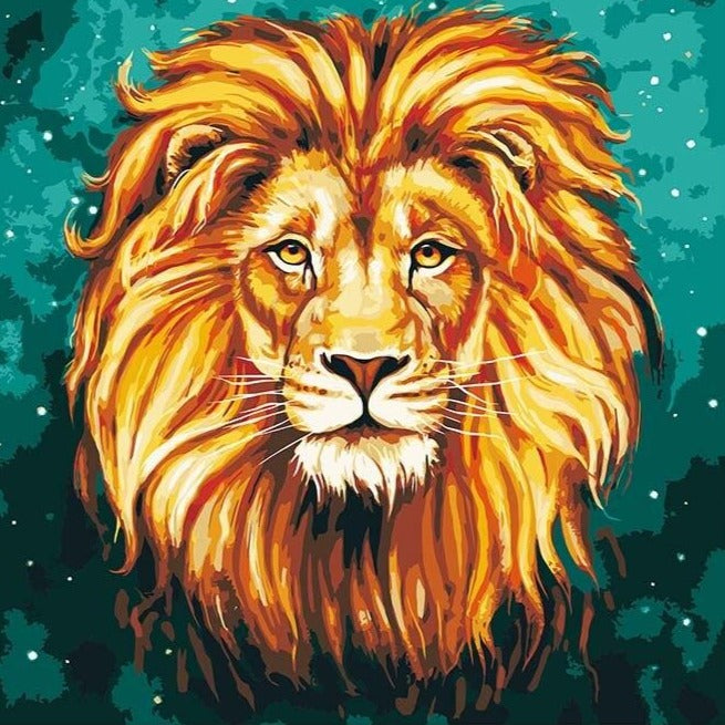 Lion's Head with Green Background (4729038471299)