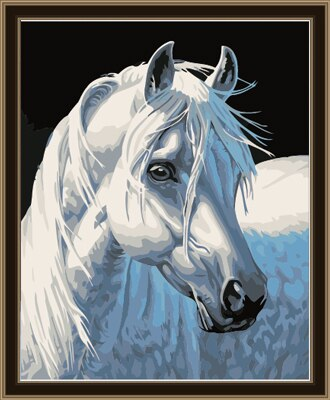 White Horse Paint By Numbers (4804986110083)