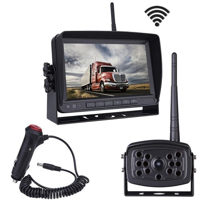 "Wireless Backup Camera for Truck Bus Vans Dashcam 7"" HD Digital Wireless Backup Camera Wifi Reverse Rearview DVR Cameras 140°"