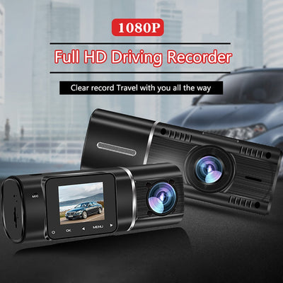 "1.5"" 170° Wide Angle Dual Lens Dashcam Front Rear View Dash Camera Car DVR Loop Recording Parking Monitor Driving Video"