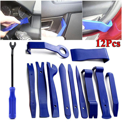 12pcs Car Trim Disassembly Tools DVD Stereo Refit Kits Interior Plastic Trim Panel Dashboard Installation Removal Repair Tools
