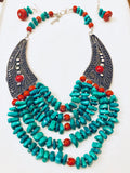 Beautiful Statement Necklace and Earring Set
