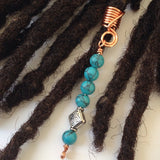 Turquoise Dreadlock Braid Twist Hair Bead Dread Locs Jewelry