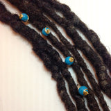 Turquoise Hair Pin Set - Loc Jewelry - Natural Hair Jewelry - Dreadlock Jewelry