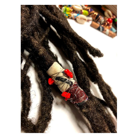Fabric Bead Loc Jewelry Dreadlock #2