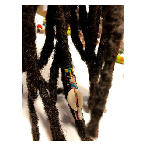 Fabric Bead Loc Jewelry Dreadlock #3