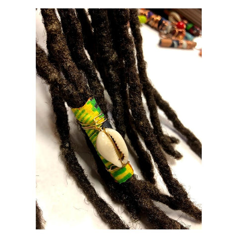 Fabric Bead Loc Jewelry Dreadlock #4