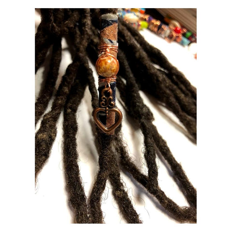 Fabric Bead Loc Jewelry Dreadlock #5