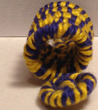 Blue Yellow Wire Wrapped Swirl Dreadlock Bead Accessories Dread Locs