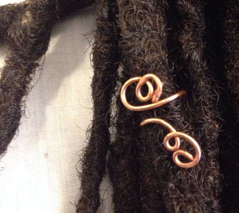 Accent Piece Hair Bead for Locs, Dreadlocks, Braids and Twists