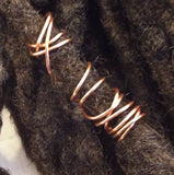 Double Spiral Dreadlock Hair Bead