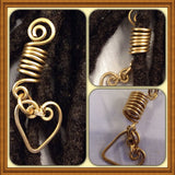 Heart Bronze  Dreadlock Bead Accessories