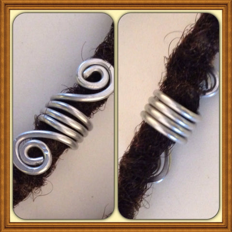 Silver  Dreadlock Bead Accessories