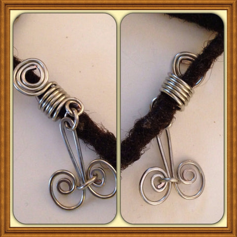 Silver Symbol Dreadlock Bead Accessories