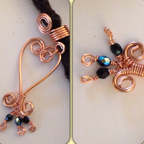 Sankofa Copper  Dreadlock Bead Accessories