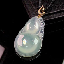 Load image into Gallery viewer, Calabash Jadeite Necklace in Icy White Jade