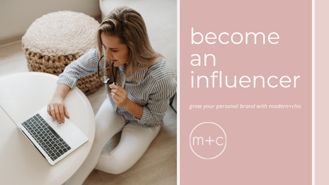 modern and chic boutique influencer program
