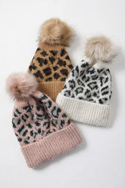 bailey leopard beanies | 3 colors
