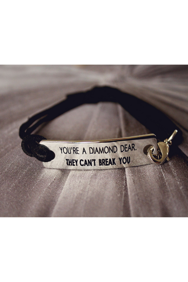 *NEW Styles* Inspirational Stamped Steel and Leather Bracelets