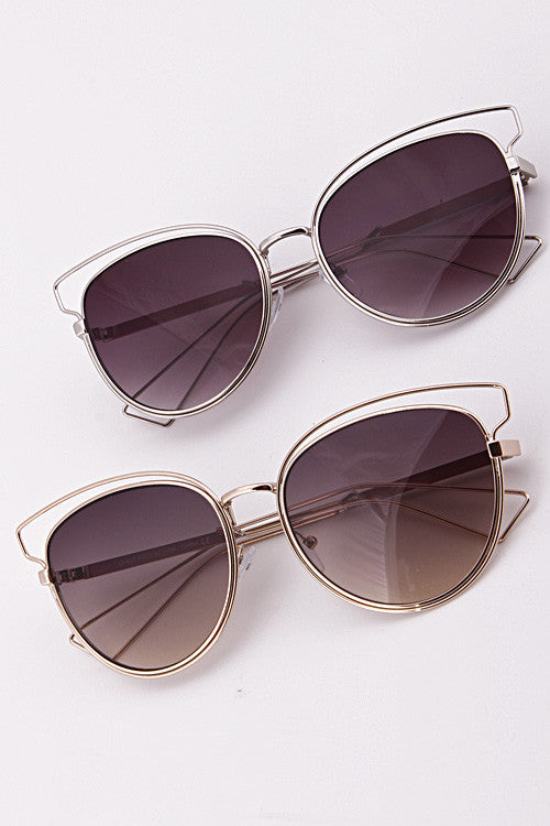 Round Open Frame Sunglasses