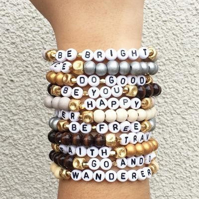 Words of Encouragement Stretch Bracelets