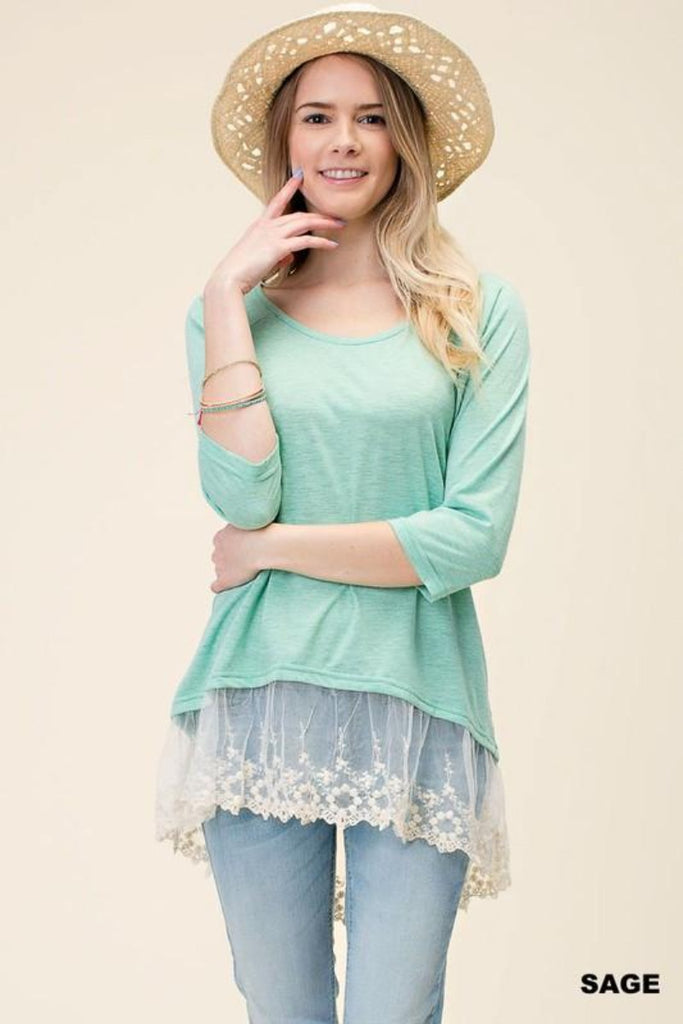 Lace Knit Top