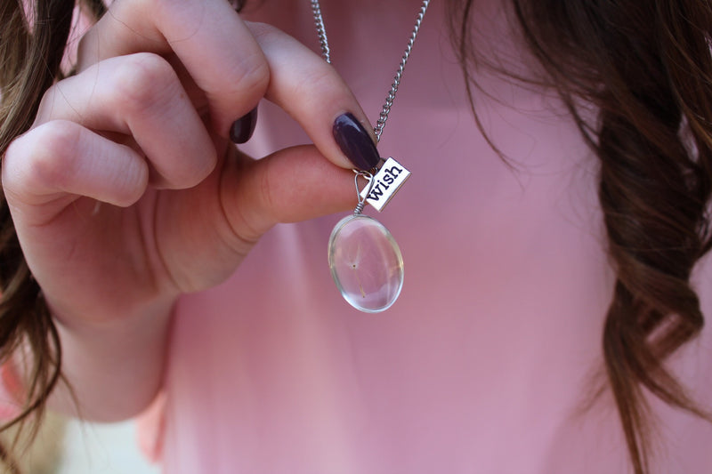 Dandelion Dew Drop Necklace