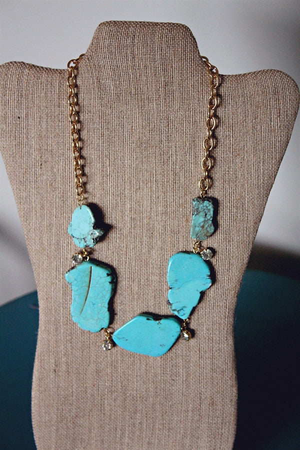 Turquoise Natural Stone Necklace
